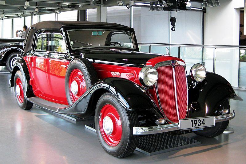 Audi af árgerðinni 1934 er óneitanlega glæsilegur.