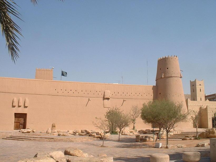 Masmak-virkið í Riyadh var lokað vegna Rammadan þegar Ingjaldur heimsótti ...
