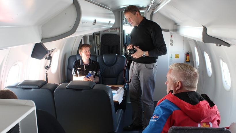 Magnús Tumi Guðmundsson on board TF-SIF today.