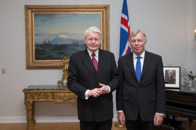 President Grímsson and Head of the EU Delegation to Iceland, ...