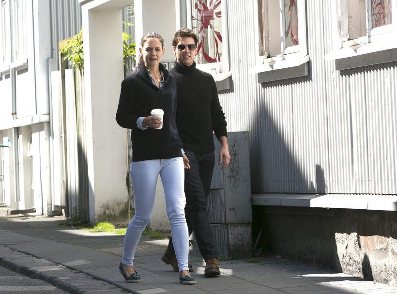 Tom Cruise og Katie Holmes á Íslandi rétt fyrir skilnaðinn.