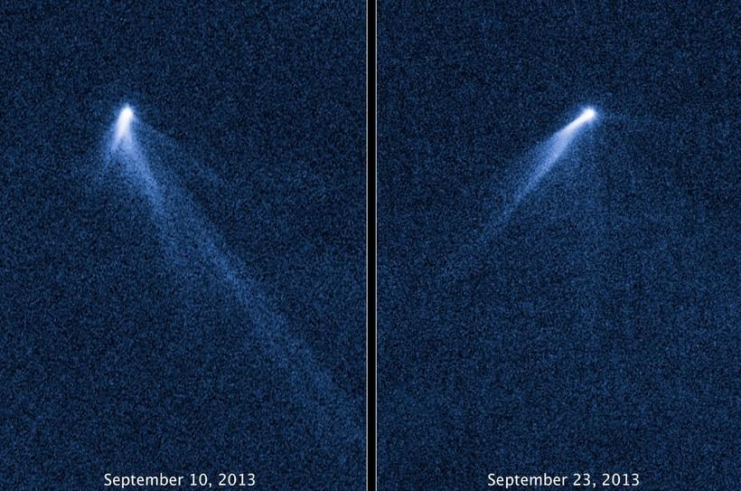 Halar fyrirbærisins sáust á myndum Hubble-geimsjónaukans.