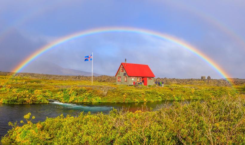 Þorsteinsskáli í Herðubreiðarlindum.