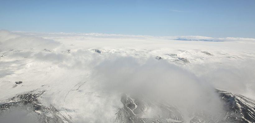 Kvikugangurinn liggur frá Bárðarbungu til norðurs í átt að Öskju.