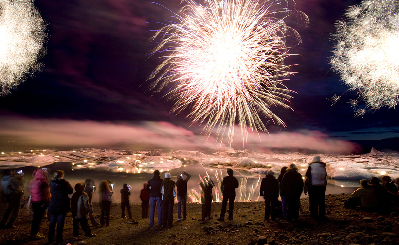 The firework display at Jökulsárlón glacial lagoon is considered a …
