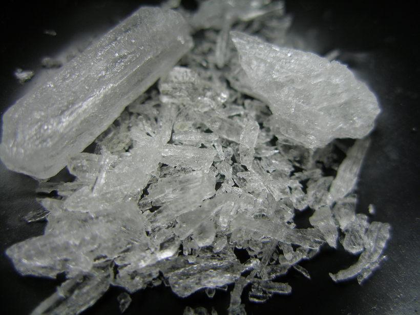Hreint metamfetamín hýdróklóríð, betur þekkt sem crystal meth.
