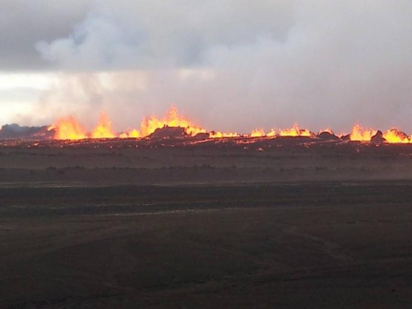 The eruption in Holuhraun.