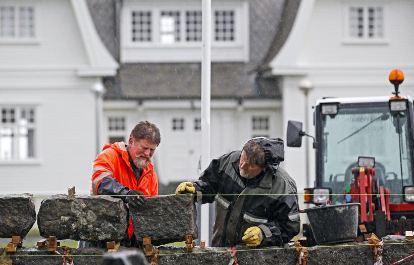 Þeir eru hraustir Strandamennirnir og bræðurnir Guðjón og Benjamín Kristinssynir.