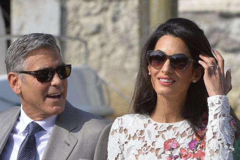 George Clooney og Amal Clooney giftu sig á Ítalíu 2014.