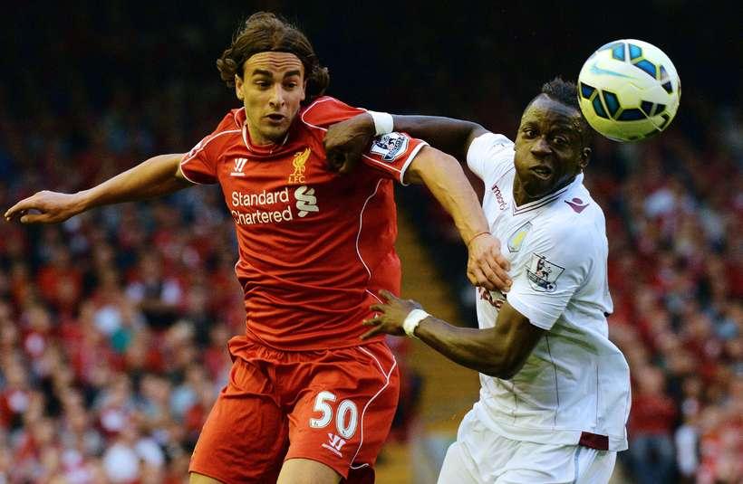 Lazar Markovic í leik með Liverpool.