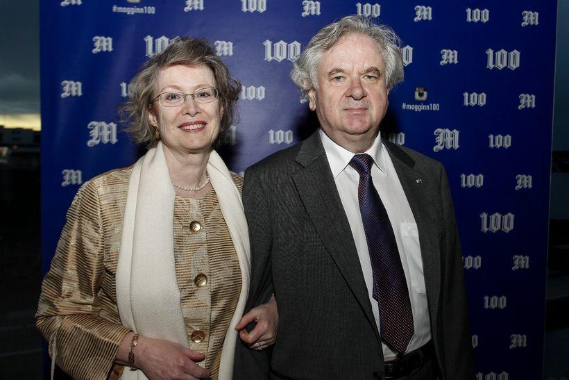 Ástríður Thorarensen og Davíð Oddsson.