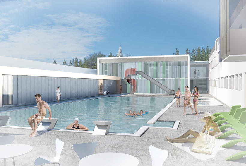 A new outdoor pool at the Sundhöll swimming pool will ...