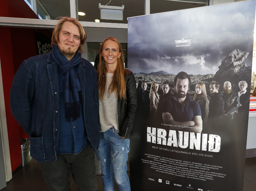 Reynir Lyngdal, leikstjóri, og Lilja Ósk Snorradóttir framleiðandi Hraunsins