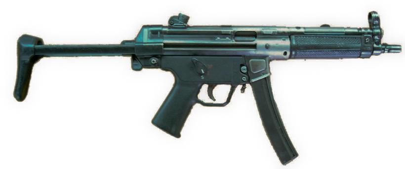 Létt vélbyssa af tegundinni MP5.
