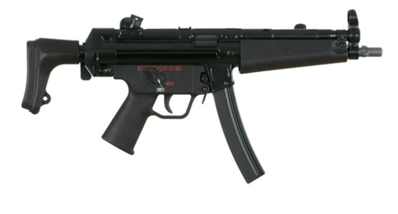 MP5 vélbyssa.