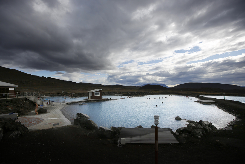 The beautiful nature baths at Lake Mývatn in north Iceland.