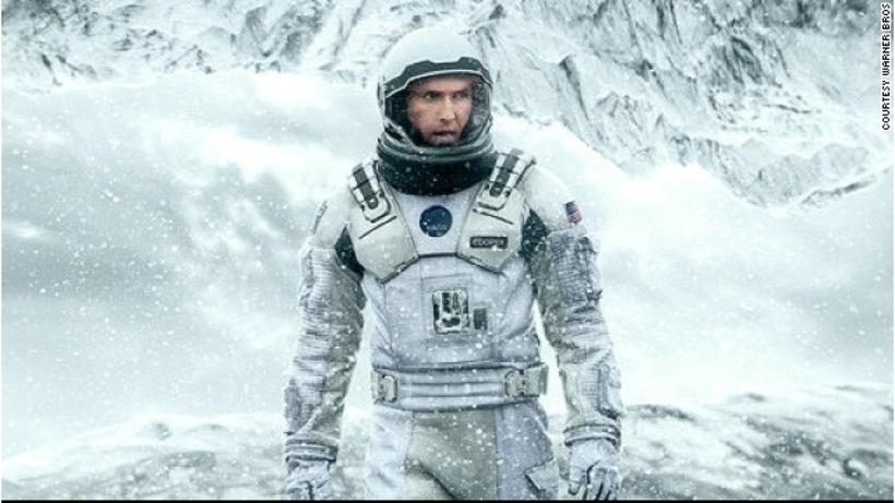 Matthew McConaughey and Anne Hathaway plunge through a space wormhole …