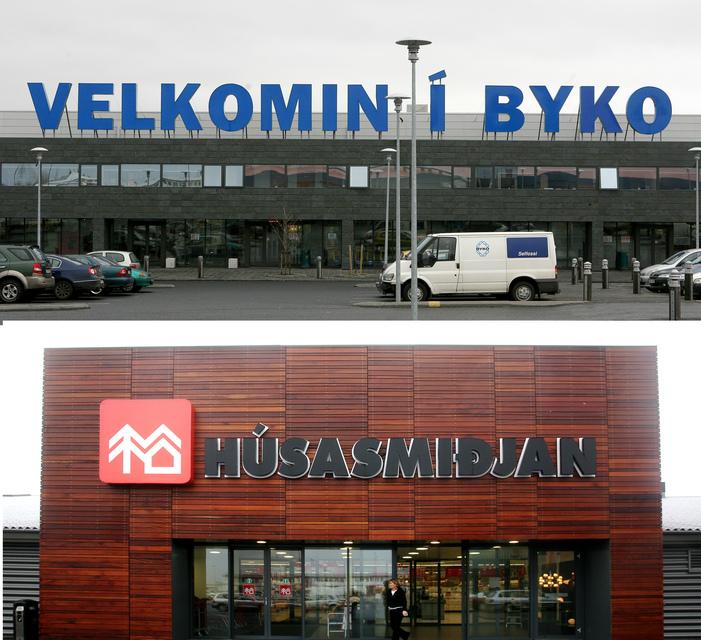 Byko og Húsasmiðjan.