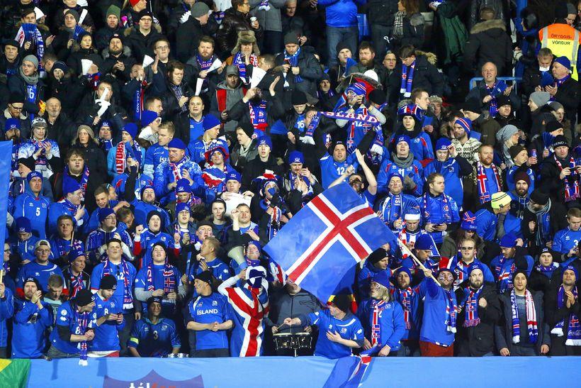 Stemmning var á leik Íslands og Króatíu í gærkvöldi.