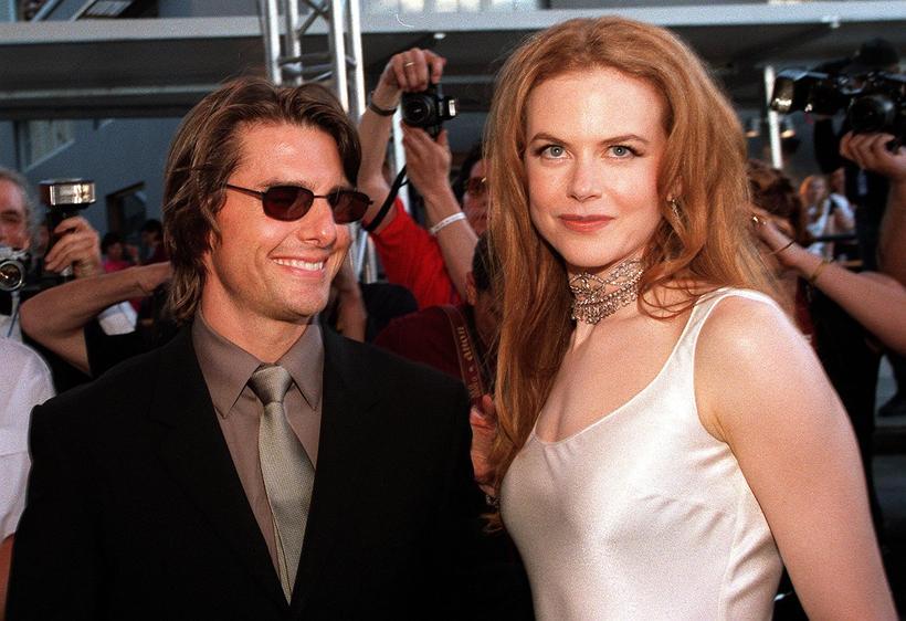 Tom Cruise og Nicole Kidman giftu sig árið 1990 og ...