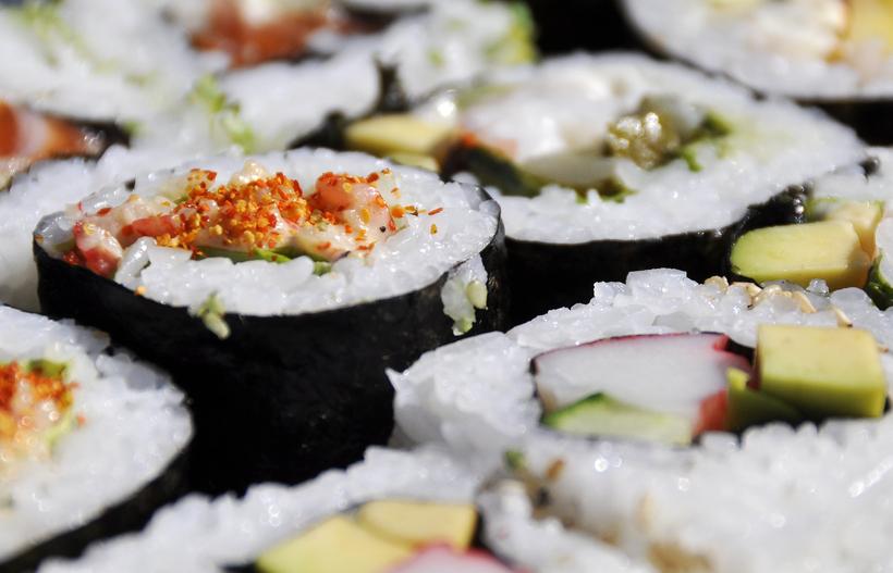 Sushi. Mynd úr safni.