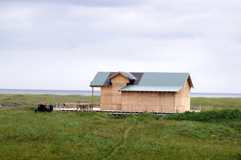 Bárubær í Fljótavík í ágústlok.