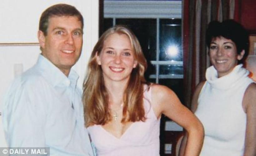 Andrés prins og Virginia Roberts árið 2001.