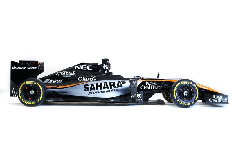 Silfurlit hefur verið bætt í litaflóru bíls Force India fyrir ...