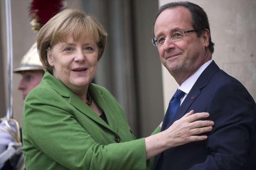 Angela Merkel og Francois Hollande.