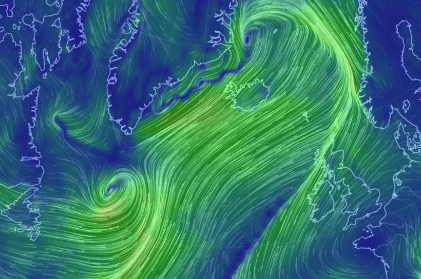 The weather is literally crazy in Iceland right now. People …
