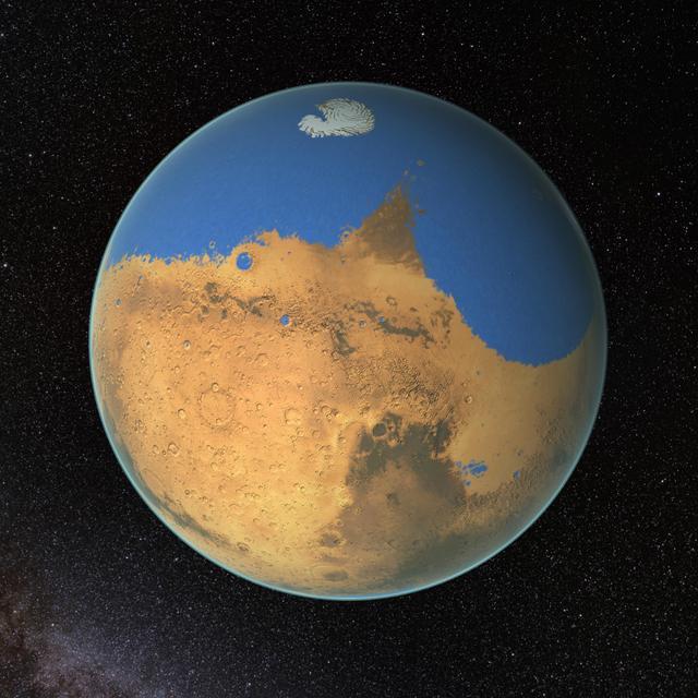 Vísindamenn NASA telja að í fyrndinni hafi verið meira vatn ...