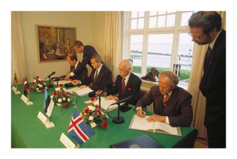 Iceland signs a treaty establishing political ties with Estonia, Latvia …