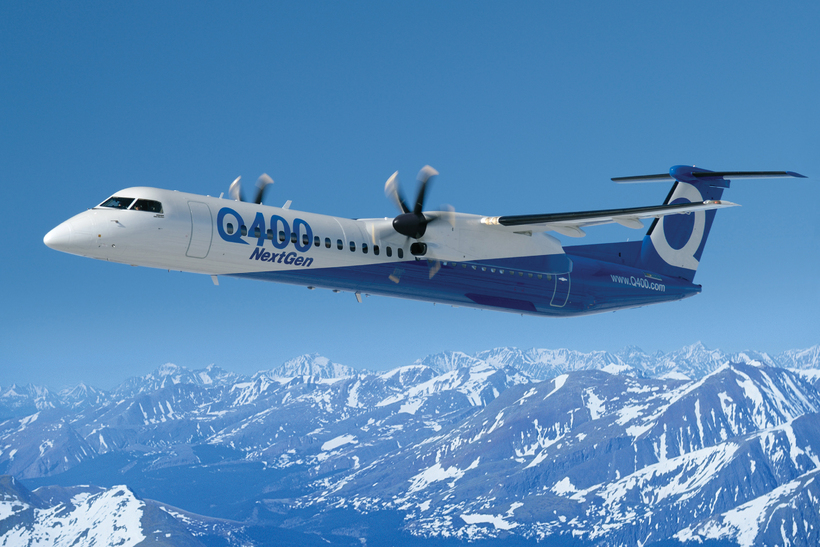 The Bombardier Q400.