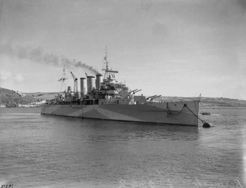 British heavy cruiser HMS Berwick.