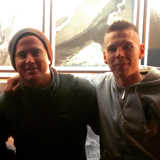 US star Channing Tatum is currently in Iceland. This photo ...