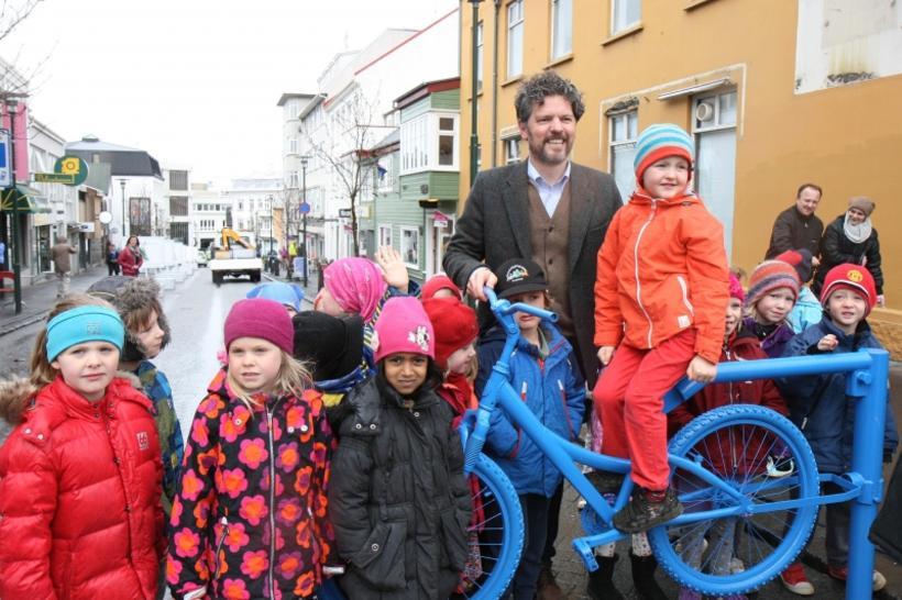 The part-pedestrianisation of Laugavegur - 'Summer Streets'.