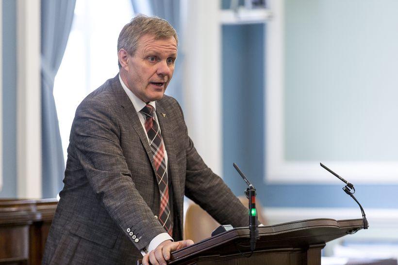 Jón Gunnarsson MP.