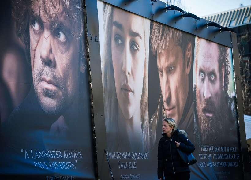 Auglýsingar fyrir síðustu þáttaröð Game of Thrones.