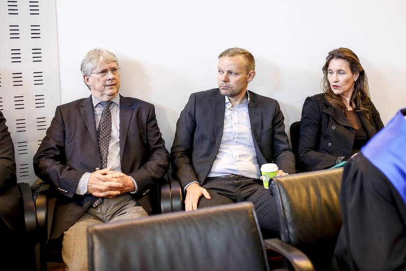 Guðmundur Örn Hauksson, fyrrverandi sparisjóðsstjóri SPRON, og fyrrverandi stjórnarmennirnir Jóhann …