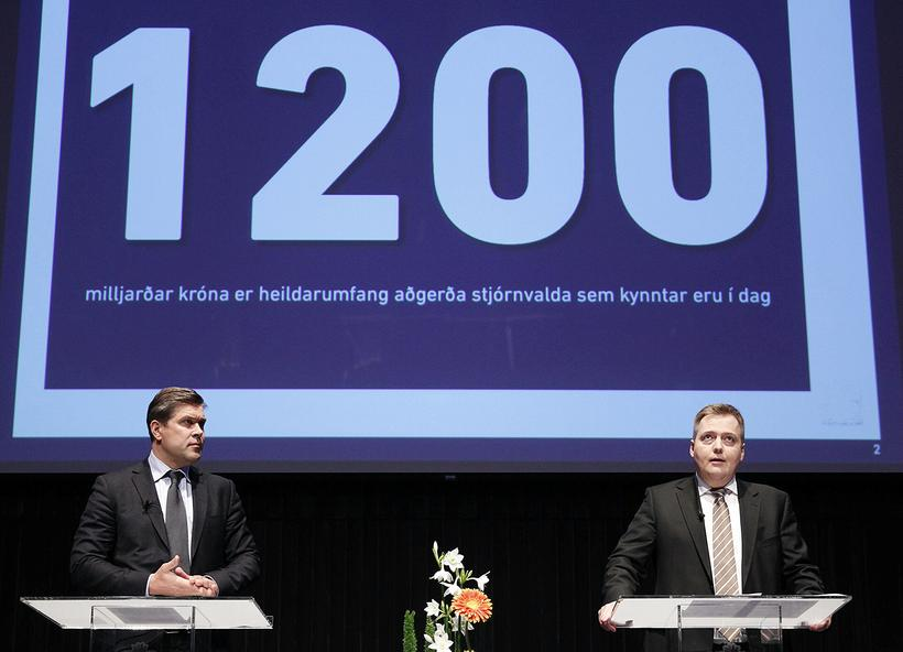 Icelandic PM and Finance Minister announcing plans to lift capital ...
