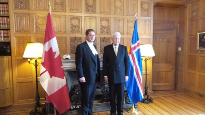 President Grímsson with the Speaker of the House of Commons, …