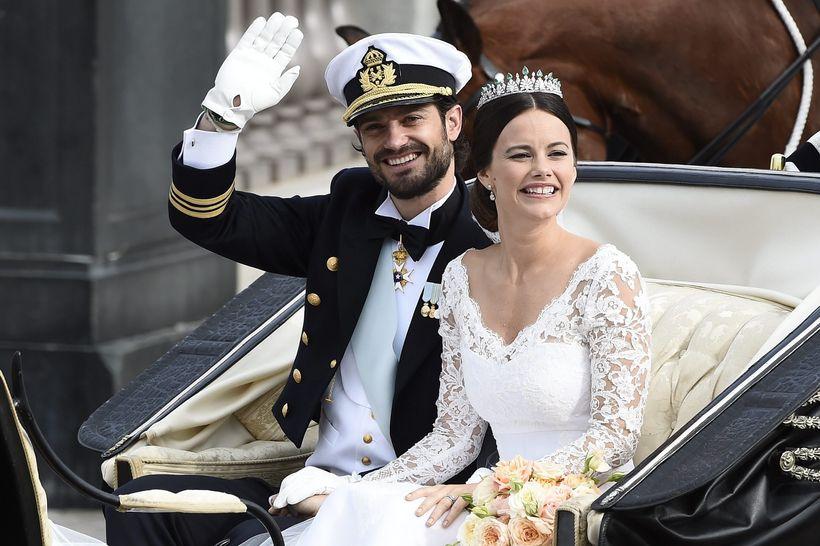 Karl Filip og Sofía eiga tvö börn.