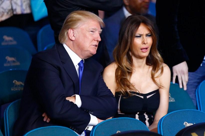 Donald Trump ásamt konu sinni Melania Trump. Hann hefur lengi …