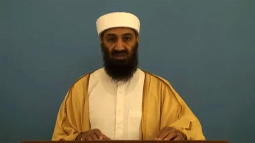 Osama bin Laden, faðir Hamza, var ráðinn af dögum árið …