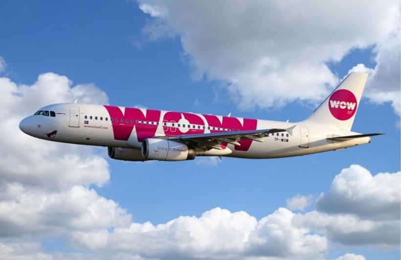 A WOW air Airbus.