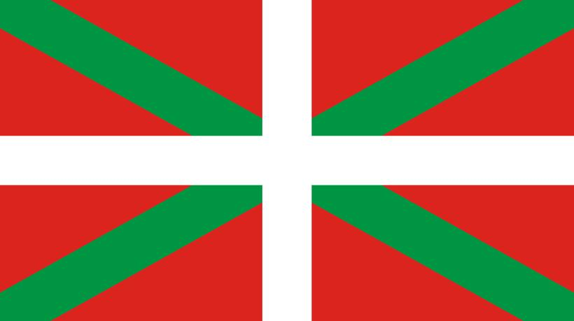 The flag of the Basque Country, the area of Spain ...