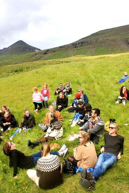 Blíðviðri á Pólar Festival.