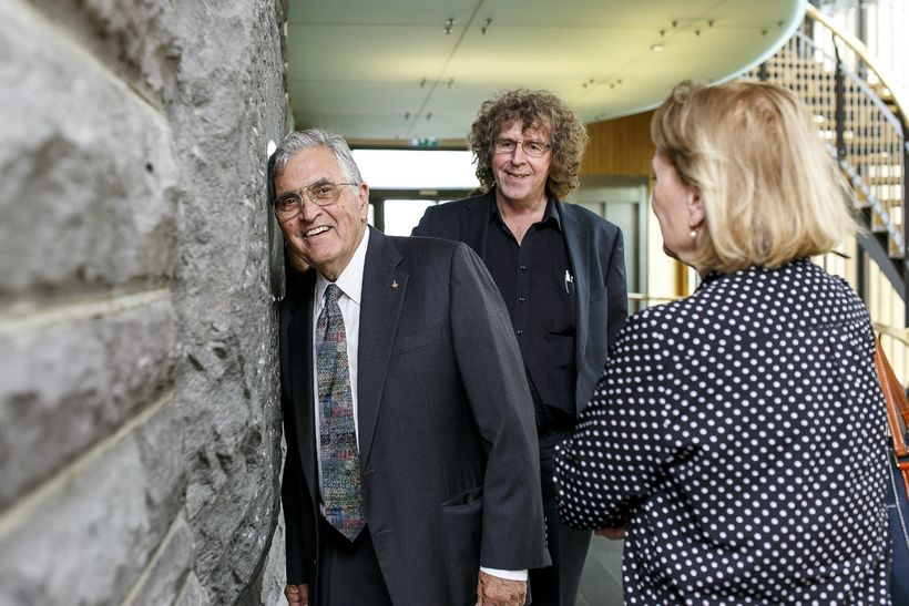 Schmitt says that the stone used in the Alþingi building ...