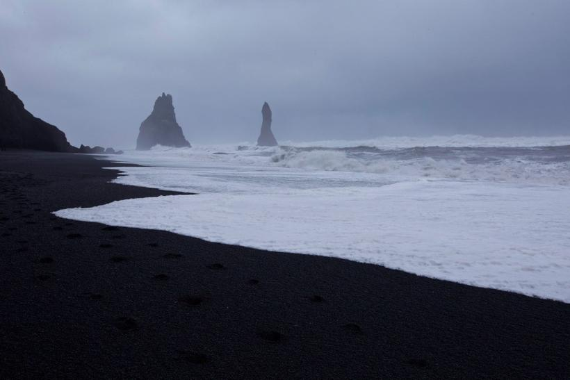 The black sands of Reynisfjara. Tourists are warned however that …