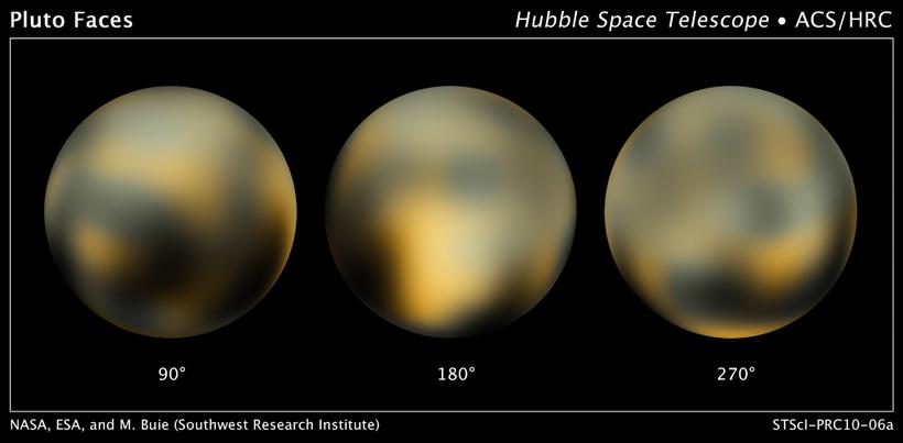 Þar til að New Horizons kom til sögunnar voru þetta …